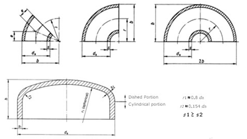 Dimensions elbows pipe welded steel china